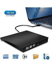 Grabadora DVD/CD Externa, iAmotus Lector DVD Portátil USB 3.0 CD DVD+/-RW ROM Drive Player Unidad USB Optico Externa Reproductor para Windows Mac OS Laptop y Otros Sistemas - Negro