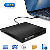 Externes DVD Laufwerk, iAmotus USB 3.0 CD/DVD RW Brenner Plug and Play CD DVD Player Slim Tragbarer...