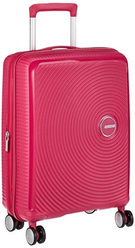AMERICAN TOURISTER Soundbox - Spinner 55/20 Expandable Equipaje de mano, 55 cm, 35.5 liters, Rosa (Lightning Pink)