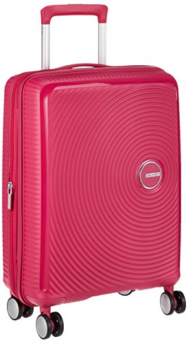 AMERICAN TOURISTER Soundbox - Spinner 55/20 Expandable Equipaje de mano, 55 cm, 35.5 liters, Rosa (Lightning Pink)