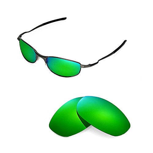 Walleva Replacement Lenses for Oakley Tightrope Sunglasses-9 Options Available (Emerald - Polarized)