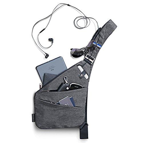 NIID-FINO Classic Sling Shoulder Crossbody Chest Bag Slim Backpack Multiuso Daypack (Gris,...
