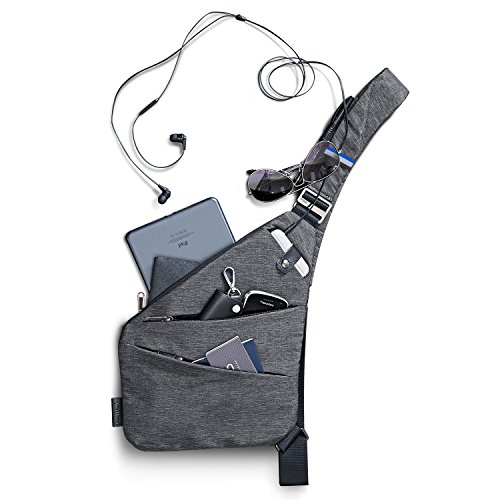 NIID Right Hand Boys Sling Shoulder Crossbody Bag(Gray, Left Hand)