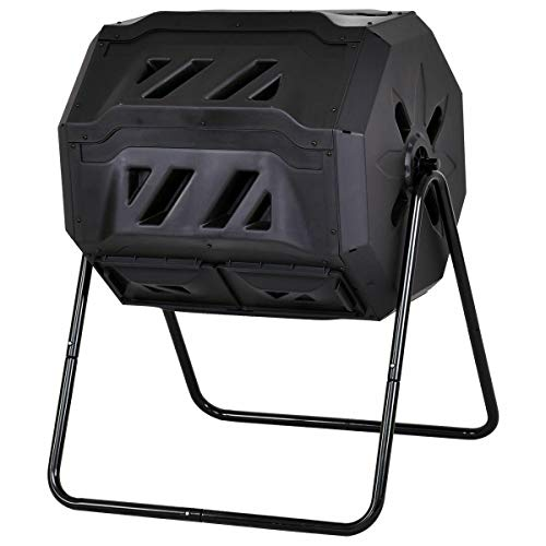 For Sale! 43-Gallon Tumbling Composter With Open Air Vents Can Easily And Efficiently Convert Kitche...
