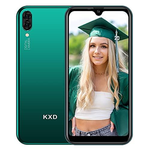 Android Smartphone ohne Vertrag KXD A1 Günstig Handy mit Dual SIM, 16GB Speicher (128 GB erweiterbar), Mobile Phone 5,71 Zoll IPS Display 5MP Kameras 3 in 1 Steckplatz, Global Version-Grün