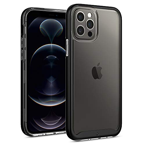 Caseology Skyfall Compatible with iPhone 12 Pro Case Compatible with iPhone 12 Case (2020) - Black