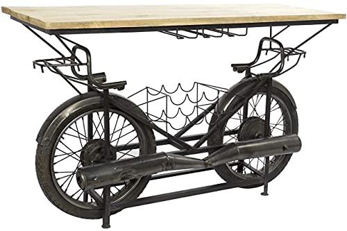 Botellero de Metal, Mango y Caucho de la línea Mueble, Color Negro, 155 x 56,5 x 96,5 centímetros (Referencia: MB-161865)