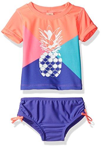 Osh Kosh Baby Girls' Pineapple Short Sleeve Rash Guard Set, Multi, 18 Months