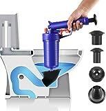 KABASAN Toilet Plunger - Drain Clog Remover, Multi-Function High Pressure Plunger Opener Pump for Toilets, Bathroom, Shower, Sink, Floor Drain, Bathtub, Kitchen Clogged Pipe