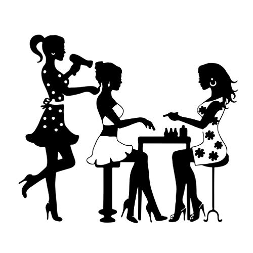 BESPORTBLE Lápiz de Pared para Salón de Belleza Y Peluquería para Mujer Calcomanías de Pared Extraíbles para Maquillaje Murales para Vestidor para Peluquería Decoración de Pared
