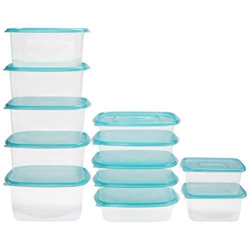 BELLE VOUS Transparente Lebensmittel Aufbewahrungsbehälter (12 Stück in 3 Größen) Auslaufsichere, BPA freie Frischhaltedosen - Mikrowellengeeignet, Gefrier- und Spülmaschinengeeignetes Container Set