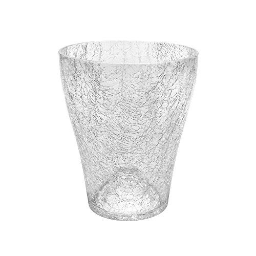 Polnix Cache Pot céramique Serie Orchid de Transparent Transparent diametre 13.5 cm Hauteur 16.5 cm