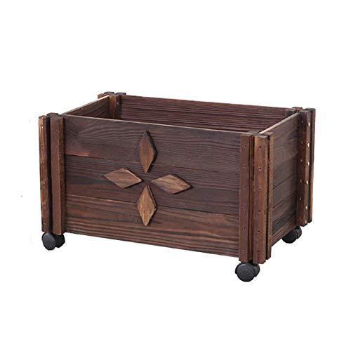 Caja para macetas de Flores, Cajas para macetas de Madera para Exteriores, Las Ruedas...