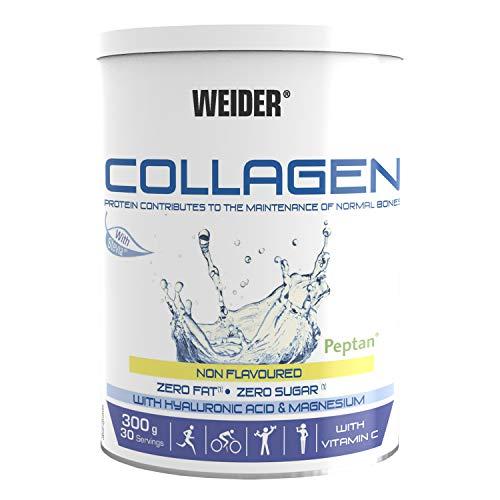 Weider Collagen. Con Ácido Hialurónico, Magnesio y Vitamina C. 100% Peptan. Cero grasas. Cero azúcar. Keto.
