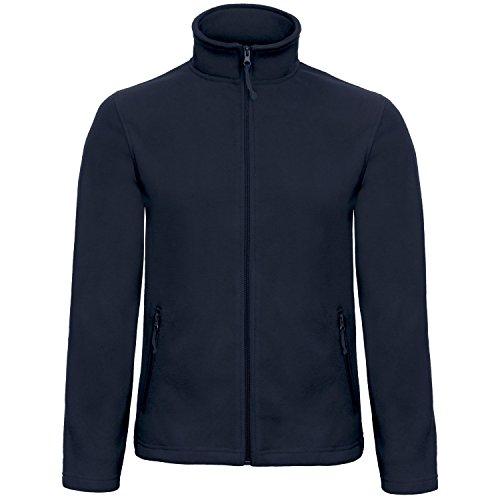 B&C Collection Herren ID 501 Mikro Fleece Jacke (XS) (Marineblau)