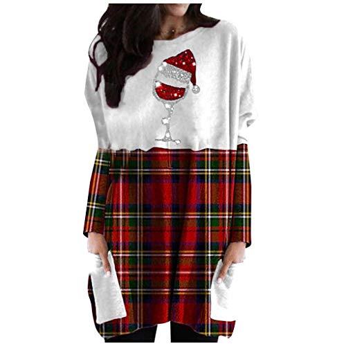 Pwtchenty Damen Hoodie Kleid Pullover Langarm Sweatshirts Kapuzenpullover Tops Herbst...