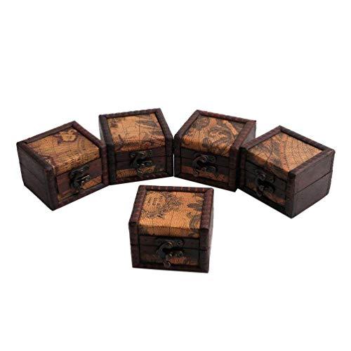 hainan 1 caja de almacenamiento en miniatura para anillos vintage de madera, caja de regalo para sudaderas con capucha Oodie