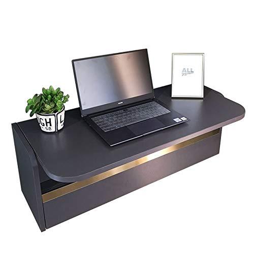 SYJH Escritorio Plegable de Pared para Espacios Pequeños Mesa de Pared de Escritorio Plegable con Compartimentos de Almacenamiento y Cajones Escritorio de Computadora o Tocador(Size:836×390×296mm)