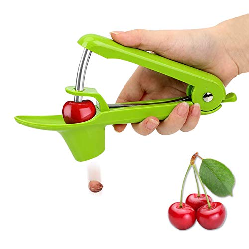 Leadrise Cherry Pitter Olive Stoner Pitter Core Remover Portable Cherry Seed Remover Pittee For Kitchen Aid With Lock Design Green