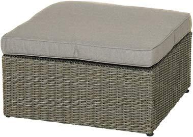 Ploß Outdoor furniture Naxos Lounge Hocker, grau, 71x71x30,5 cm