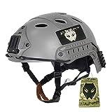 Ajustable SWAT combate tipo PJ rápido casco protector FG dos tamaños (M/L, L/XL) para el ejército estilo militar táctico para Paintball CQB tiroteo, color  - FG, tamaño L / XL