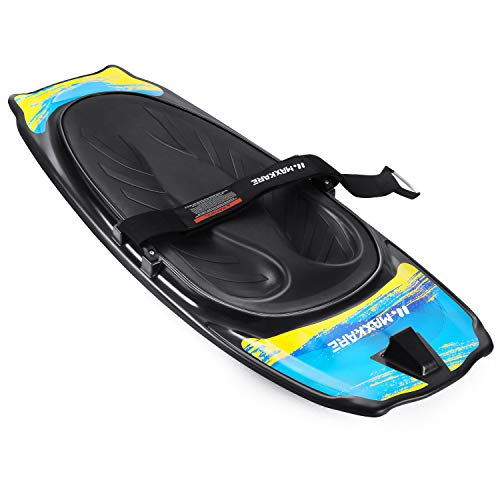 MaxKare Kneeboard with Hook Strap Surfing Boating Waterboarding Snow Sled EVA Pad Outdoor Sport for Kids, Teens & Adults