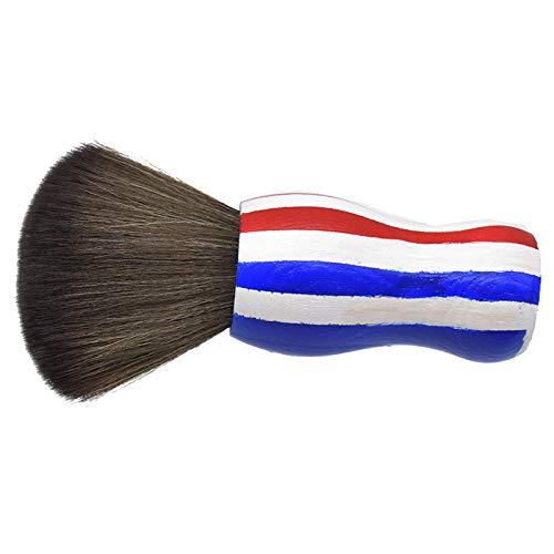 RETYLY Cepillos Suaves de Cuello Negro para la Cara, Cepillo de PeluqueríA para Limpiar el Cabello, Herramienta de Maquillaje para PeluqueríA, Corte de SalóN