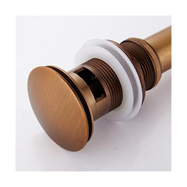 Weare inicio Retro simplemente Design todos latón Deko pop-up válvula Ablaufgarnitur Push Open tecnología lavabos final