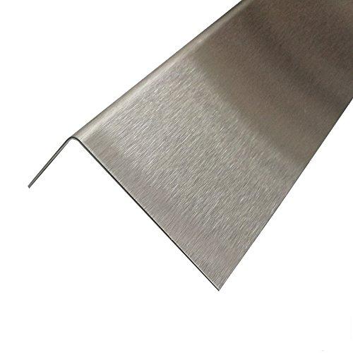Winkelprofil Edelstahl 2 Meter Kantenschutz geschliffen K240 0,8 mm stark (50x15 mm)