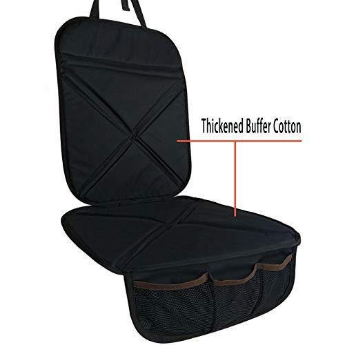 Alfheim Autositzschutz, Kindersitz Matte, für Baby- / Kleinkindersitz, rutschfest, kratzfest und wasserdicht mit 3 Taschen, UNIVERSAL-Version, kompatibel mit ISOFIX