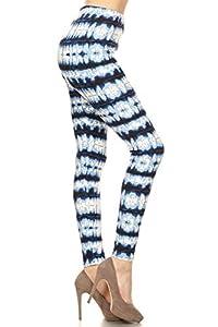 Leggings Depot Women's Fall/Winter Ultra Soft Printed Fashion Leggings BAT16