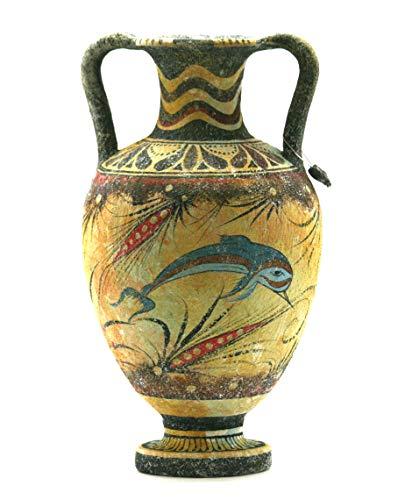 Minoan Jarrón Cerámica Pintura Delfín Antiguo Griego Creta Cerámica Knossos