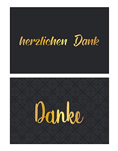 2 Stück Premium Dankeskarten (Klappkarten) mit 4 Umschlägen, Danke, Dankeschön, Karten, Dankekarten, Hochzeit, Geburt, Baby, Taufe, Abschied, Geburtstag, Jubiläum