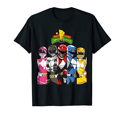 All Rangers In Separate Panels With Logo T-Shirt