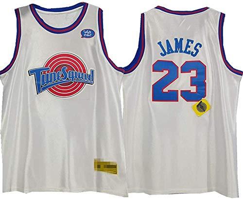 BBJOZ Camiseta de baloncesto con bordado retro, versión de la película de baloncesto James#23, camiseta de baloncesto, camiseta de Swingman, color blanco, L