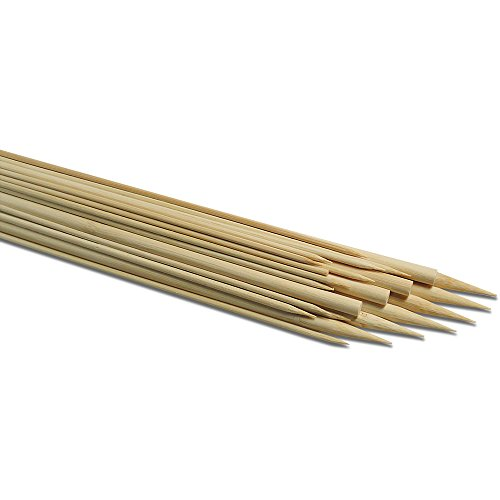 Holzstäbe einseitig gespitzt 5mm, Länge 30cm, 12 Stück