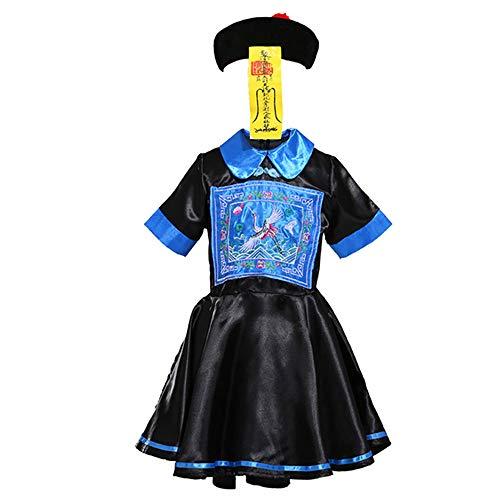Ropa Infantil de Halloween, Cosplay de Vestimenta para niños/Adultos Disfraces de rol de Zombie Fantasma Chino