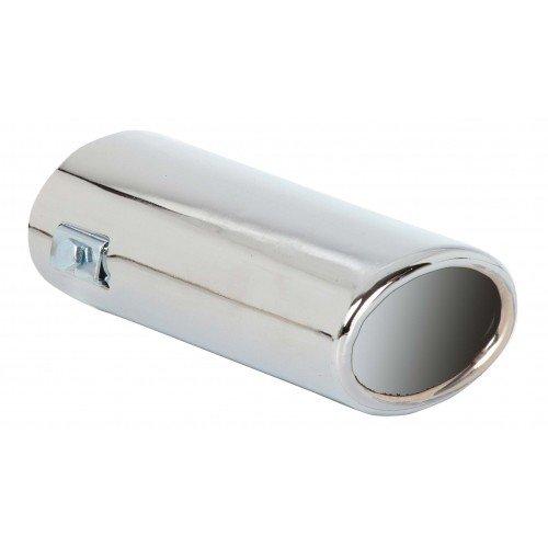 Auspuffblende universal oval 75x55mm Anschluss 45-62mm