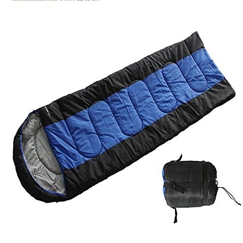 HUHUO Saco de Dormir cálido Impermeable Ligero de 4 Estaciones con un Saco de compresión para Adultos, niños, Mujeres, Hombres al Aire Libre Camping, Senderismo, mochileros