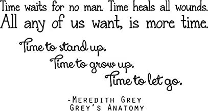 Meredith Grey Quote - Grey's Anatomy Wall Decal - Large TV Show Sticker - 32