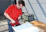 Einhell Bandschleifer TE-BS 8540 E (850 W, Schleiffläche 75x140 mm, Drehzahl-Elektronik, präziser Bandlauf, Staubabsaugung, werkzeugloser Schleifbandwechsel, Softgrip, inkl. 1x P80 Schleifband) - 3