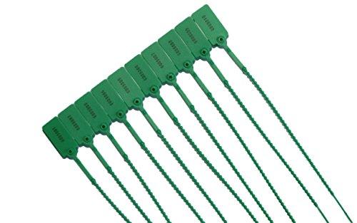 100 x Sicherheitsplomben Plomben Grün Durchziehplomben