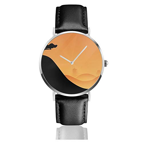 Artistic Bonsai Explosion Japan_ Men Wrist Watches Genuine Leather For Gents Teenagers Boys