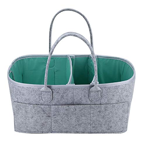Tiamu Baby Windel Caddy Organizer - Aufbewahrungs Korb - Unverzichtbare Tasche für Kinder Zimmer, Wickel Tisch und Auto - Wasserdichte Einlage Ist Perfekt zum Aufbewahren Von Windeln