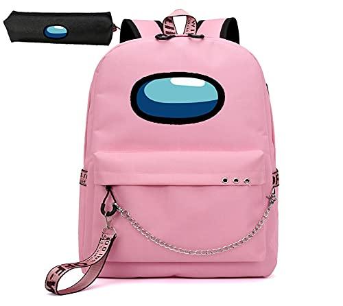Zaino per bambini con astuccio per ragazzi borse scuola borsa studente per ragazze, Mocassini eleganti da donna, 46 cm
