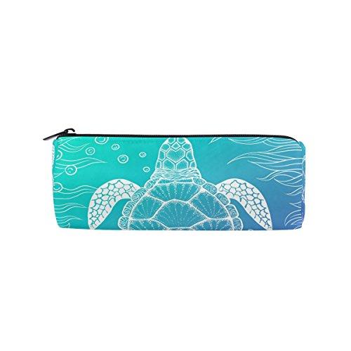 U Life Pencil Pouch Case Holder Box Pen Bag with Zipper for School Boys Girls Kids Ocean Sea Aquatic Turtle Tortoise