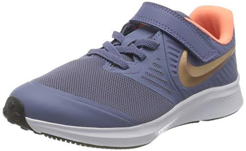 Nike Star Runner 2 (PSV), Scarpe da Corsa, Blu (World Indigo/Mtlc Red Bronze-Atomic Pink), 33 EU