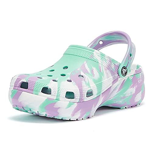 Crocs Schuhe Classic Platform Marbled Clog - Pistachio, Größe:38/39 EU