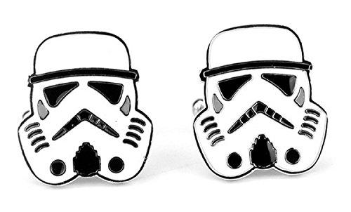 Star Wars StormTrooper Cosplay Cufflinks Manschettenknöpfe + Geschenkkarton