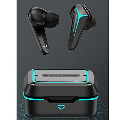 HJFGIRL Auriculares Inalámbricos,V1 Auriculares Internos con Sonido Estéreo HD, 36H Tiempo de Reproducción Bluetooth 5.0, Modo de Juego/Micrófonos Duales/Smart Touch /...
